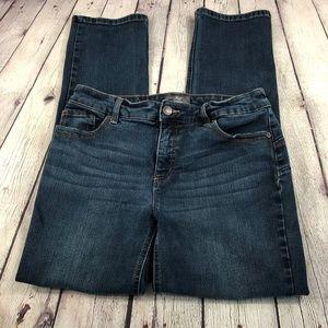 Chico's So Lifting Straight Leg Dark Jeans 0.5